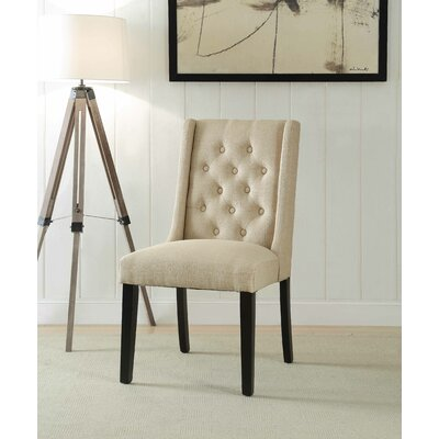 Yodani Upholstered Dining Chair Upholstery: Tan