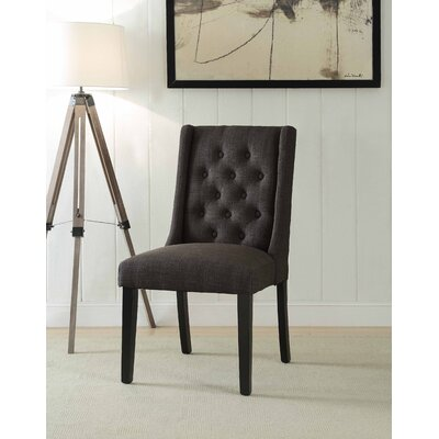 Yodani Upholstered Dining Chair Upholstery: Black