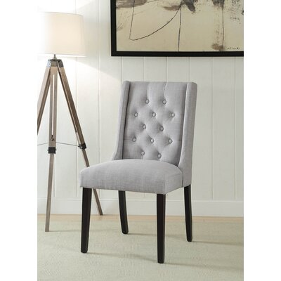 Yodani Upholstered Dining Chair Upholstery: Light Gray