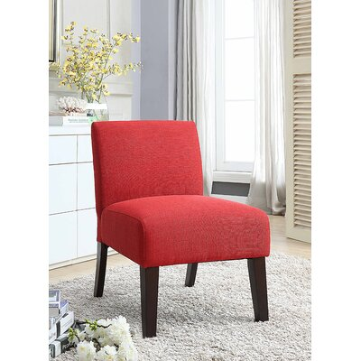 Monica Upholstered Slipper Chair Upholstery: Red