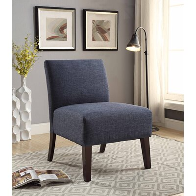 Monica Upholstered Slipper Chair Upholstery: Blue