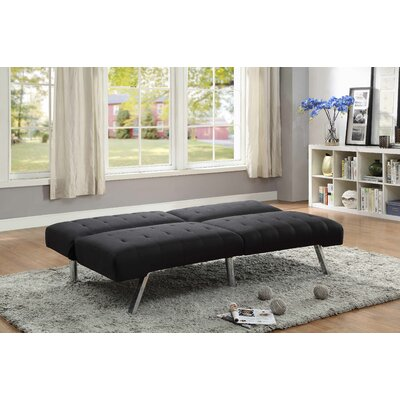 Porcaro Adjustable Reclining Sleeper Sofa Upholstery: Black