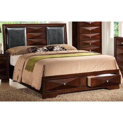 Keller Queen Upholstered Storage Platform Bed