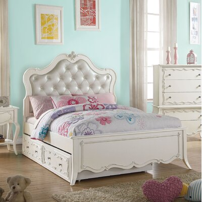 Schechter Tufted Twin Platform Bed with Trundle