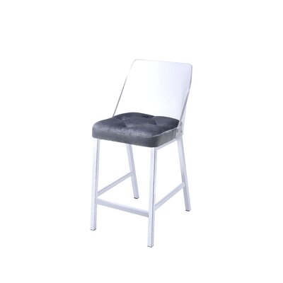 Langhorne Counter Height Upholstered Dining Chair Upholstery: Gray