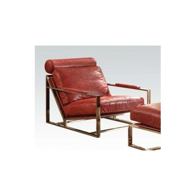Malkesh Top Grain Leather Armchair