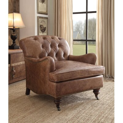Vaishali Top Grain Leather Club Chair
