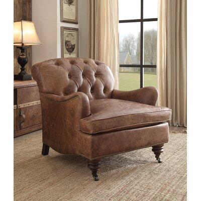 Vaishali Top Grain Leather Club Chair