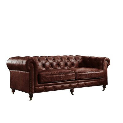 Kasha Top Grain Leather Chesterfield Sofa