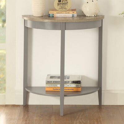 Pridgen Console Table Table Top Color: Gray Oak