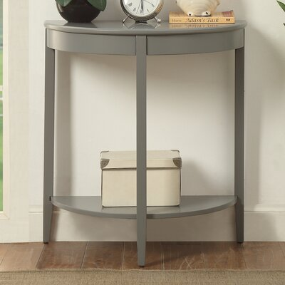 Pridgen Console Table Table Top Color: Gray