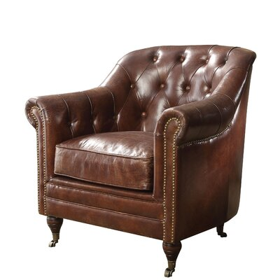 Kasha Top Grain Leather Club Chair