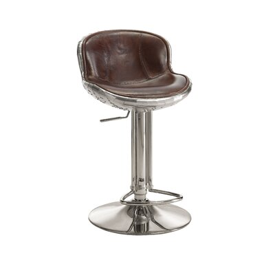 Annessia Adjustable Height Swivel Bar Stool