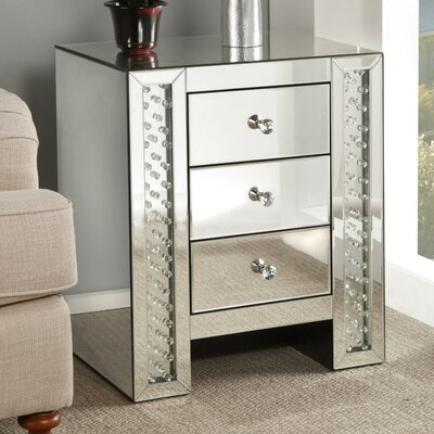 Bladwell Mirrored End Table