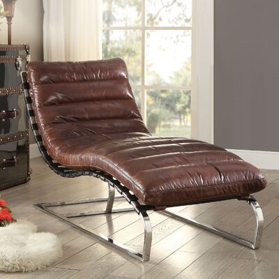 Alexcia Leather Chaise Lounge