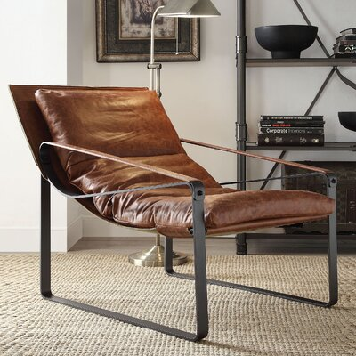 Kassy Top Grain Leather Lounge Chair