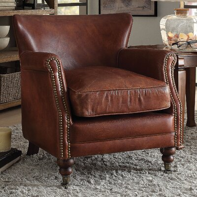 Devyn Top Grain Leather Club Chair