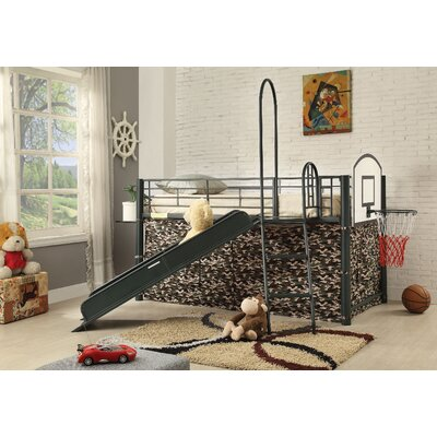 Gerow Loft Bed with Slide Bed