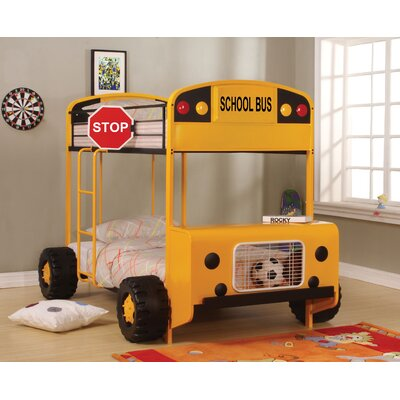Gerry School Bus Twin over Twin Bunk Bed