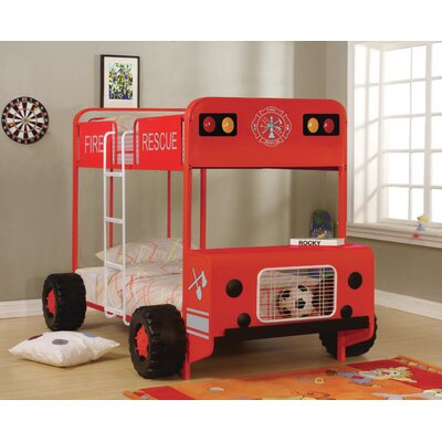 Gertie Fire Truck Twin over Twin Bunk Bed