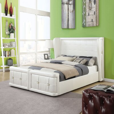 Jourdan Upholstered Panel Bed Size: King