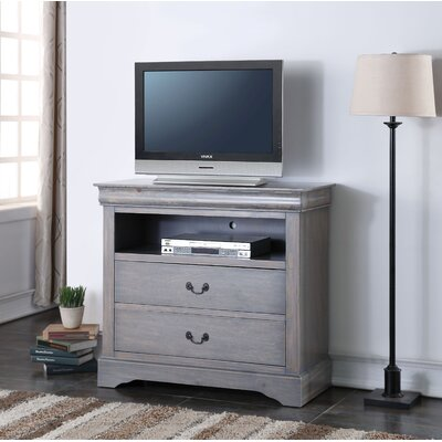 Whispering Pines 37 TV Stand Color: Antique Gray