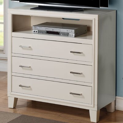 Schick 36 TV Stand Color: White
