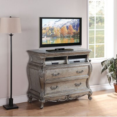 Chalfont 45 TV Stand Color: Antique Platinum
