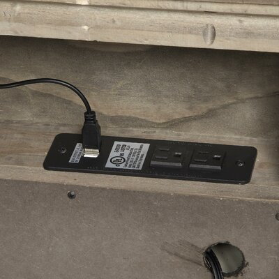 Sadee 2 Drawer Nightstand with USB Power Dock