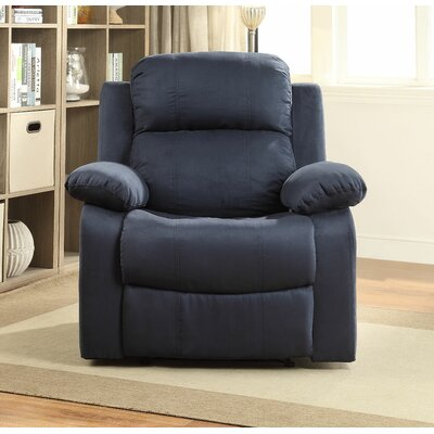 Parklon Manual Recliner Upholstery: Blue