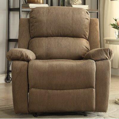 Bina Memory Foam Manual Wall Hugger Recliner Upholstery: Taupe
