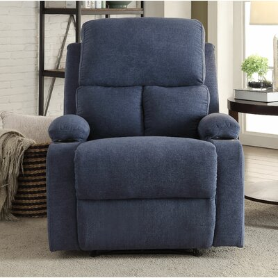 Rosia Manual Recliner Upholstery: Blue