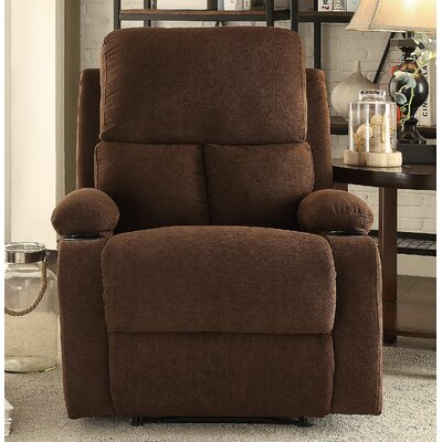 Rosia Manual Recliner Upholstery: Chocolate