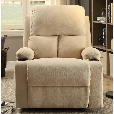 Rosia Manual Recliner Upholstery: Beige