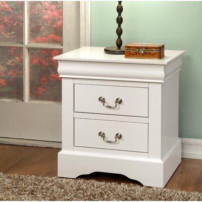 Whispering Pines 2 Drawer Nightstand Color: White