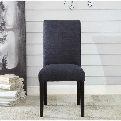 Ellettsville Upholstered High Back Dining Chair Upholstery: Dark Blue Slate