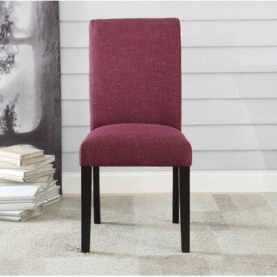Ellettsville Upholstered High Back Dining Chair Upholstery: Purple