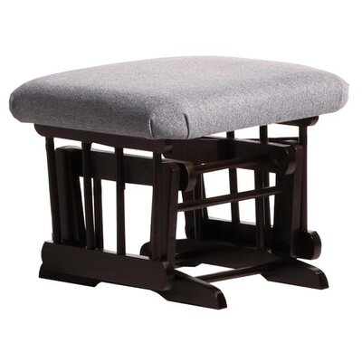 Sleigh/Two Post Ottoman Upholstery: Dark Grey, Frame Finish: Espresso