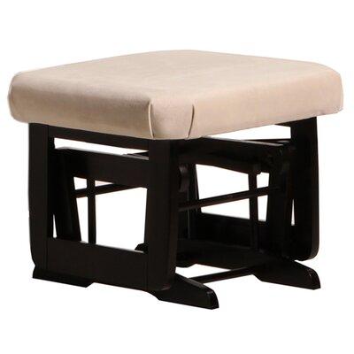 Modern Frame Ottoman Upholstery: Light Beige, Frame Finish: Espresso
