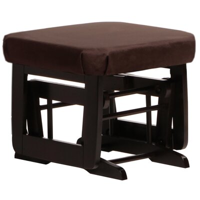 Modern Frame Ottoman Upholstery: Chocolate, Frame Finish: Espresso