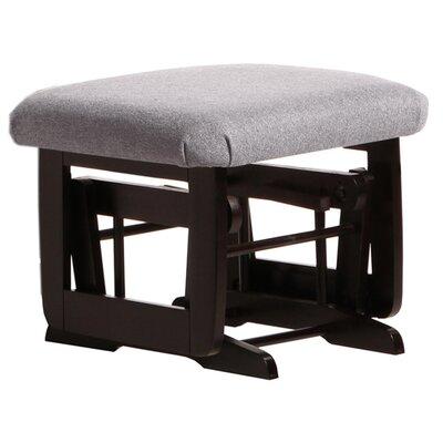 Modern Frame Ottoman Upholstery: Dark Grey, Frame Finish: Espresso