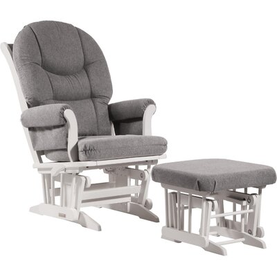 Ultramotion Sleigh Nursing Glider and Ottoman Color: Dark Grey