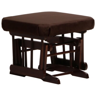 Sleigh/Two Post Ottoman Upholstery: Chocolate, Frame Finish: Coffee