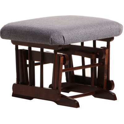 Sleigh/Colonial Frame Ottoman Upholstery: Dark Grey, Frame Finish: Coffee