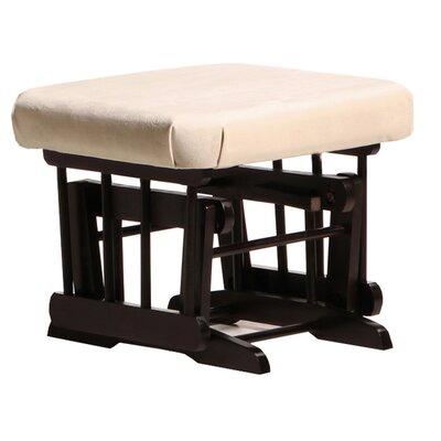 Sleigh/Two Post Ottoman Upholstery: Light Beige, Frame Finish: Espresso
