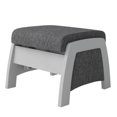 Urban California Ottoman Body Fabric: Ash Gray_Opaque Gray
