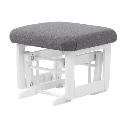 Modern Frame Ottoman Body Fabric: Dark Grey, Frame Finish: White, Style: Standard