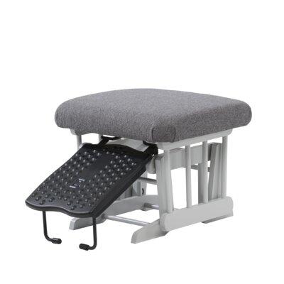 Sleigh/Colonial Frame Nursing Ottoman Upholstery: Dark Grey, Frame Finish: Grey