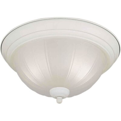 Vowell 11.25 2-Light Flush Mount Size / Finish: 13.25 H x 6.25 W / White