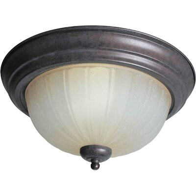 11.25 2-Light Flush Mount Size / Finish: 13.25 H x 6.25 W / Black cherry